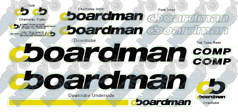 Boardman Comp Frame Decals
