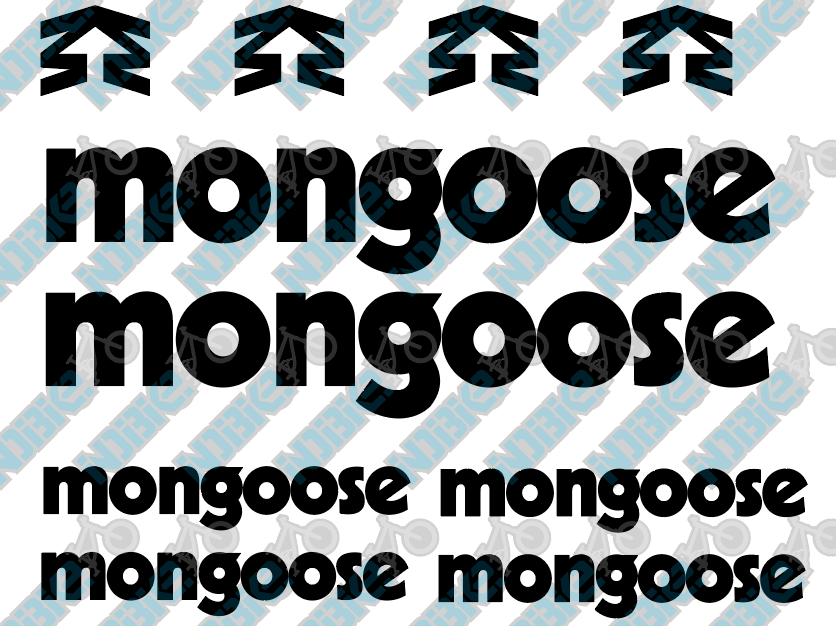 Mongoose Frame Decals